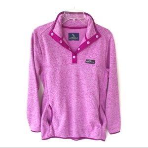 Simply Southern Knit Magenta Snap Pullover M